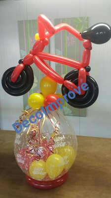Fiets 'Happy Birthday' Cadeauballon Stuffer Ballon