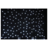 Showtec Stardrape White LED Zwart sterrendoek met witte LEDs 2X3Meter