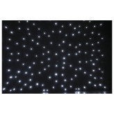 Showtec Stardrape White LED Zwart sterrendoek met witte LEDs 4X6Meter