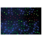 Showtec Stardrape RGB LED Zwart sterrendoek met RGB 3in1 LEDs 3X6Meter
