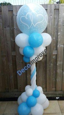 Verbonden Harten Luxe Ballonnenpilaar