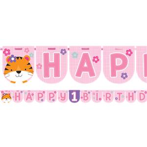 Roze One is Fun 'Happy Birthday' Letter Slinger 240cm