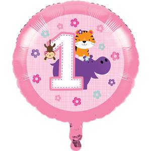 Roze One is Fun Folie Ballon 45cm