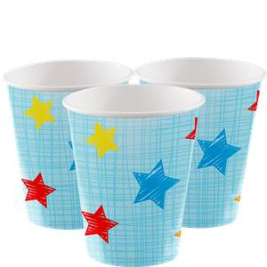 Blauw One is Fun Papieren Bekers 8st