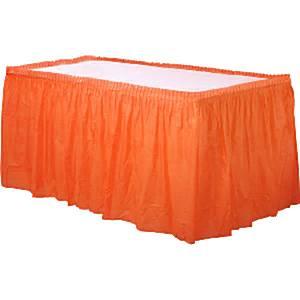 Sinaasappel Oranje Plastic Tafel Rok 426x73cm