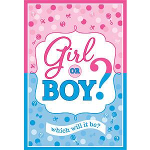 Jongen of Meisje Uitnodigingen en Enveloppen 8st