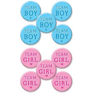 Jongen of Meisje Buttons 10st