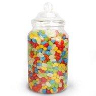 Victoriaanse Plastic Snoeppot met Deksel Groot 3.25L