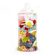 Victoriaanse Plastic Snoeppot met Deksel Klein 500ml