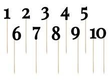 Zwart Tafel Nummers Prikkers 11st