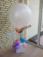Organic Luchtballon met Enveloppenkist Ballondecoratie