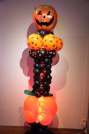 Luxe Ballonnenpilaar Halloween Pompoen