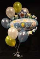 It's A Boy Tros Helium Ballonnen Boeket