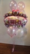It's A Girl Tros Helium Ballonnen Boeket
