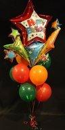 Happy Birthday Vuurwerk Tros Helium Ballonnen Boeket