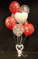 Witte Harten Helium Ballonnen Boeket