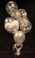 Just Married Zilver Helium Ballonnen Boeket