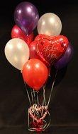 I Love You tros helium ballonnen Boeket