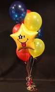 Smiley Ster Helium Ballonnen Boeket