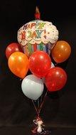 Gestreepte Cupcake Happy Birthday Tros Helium Ballonnen Boeket