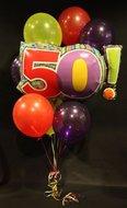 50 Helium Ballonnen Boeket
