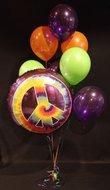60's Peace Jumbo Helium Ballonnen Boeket