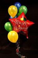 Happy Birthday Ster Rood Helium Ballonnen Boeket