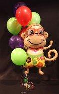 Hawaii Aapje Helium Ballonnen Boeket