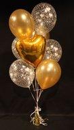Gouden Harten Helium Ballonnen Boeket