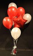 Rode Ster Helium Ballonnen Boeket