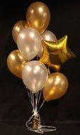 Gouden Ster Helium Ballonnen Boeket