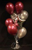 Zilveren Sterren Helium Ballonnen Boeket