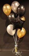 Zwarte Ster Mix Hollywood Helium Ballonnen Boeket