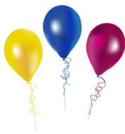 Losse 27cm Ballon gevuld met Helium