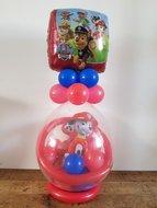 Paw Patrol met Brandweerhelm Cadeauballon Stuffer Ballon