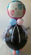 Gender Reveal Strikje of Vlinderdas Cadeauballon Stuffer Ballon