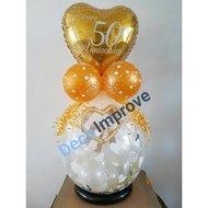 50 Jaar Goud Jubileum Cadeauballon Stuffer ballon
