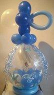Blauw Jongen Cadeauballon Stuffer Ballon