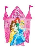 Disney Prinsessen Sprankelend Kasteel '5 jaar' Folie Ballon 88cm