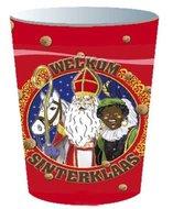 Sinterklaas Choco Plastic Bekers 8st