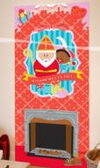 Sinterklaas Open Haard Banner 80x180cm