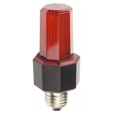 Showtec Easy Flash E27 Slimline, rood stroboscoop