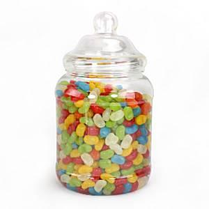 Victoriaanse Plastic Snoeppot met Deksel Medium 2.25L
