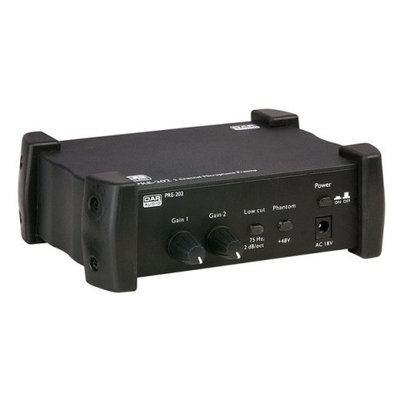 Dap PRE-202 2-Kanaals Microfoonvoorversterker