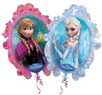 Frozen Anna en Elsa Dubbelzijdige Supervorm XL Ballon 78cm