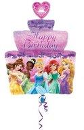 Disney Prinsessen SuperVorm Verjaardagstaart XL Folie Ballon 71cm