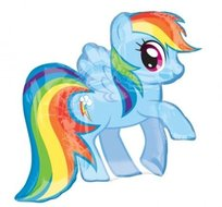 My Little Pony Rainbow Dash SuperVorm Folie Ballon 71cm