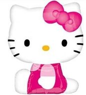 Hello Kitty Zittend Supervorm Folie Ballon 68cm