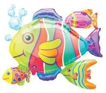 Tropische Vissen Supervorm Folie Ballon 76cm
