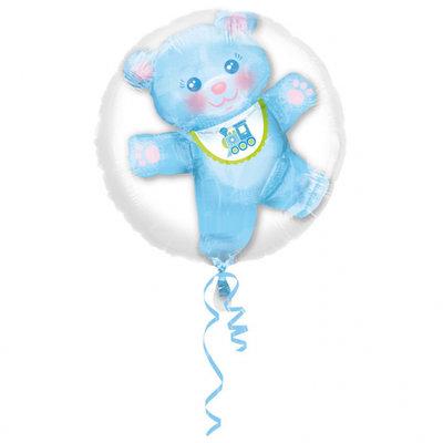 Blauwe Teddybeer Baby Jongen Insider Folie Ballon 60cm